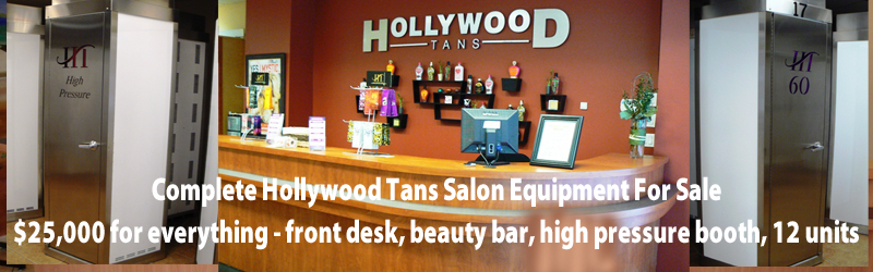 buy entire contents of a closed Hollywood Tans here for only $20,000